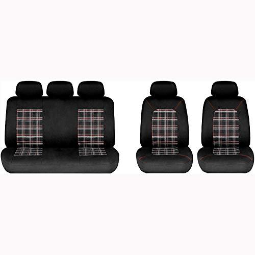 Universal Black Autositzbezüge Rutschfester und atmungsaktiver Van Protector mit Airbag-kompatibler Pflege (Sitzbezüge Protector Auto)