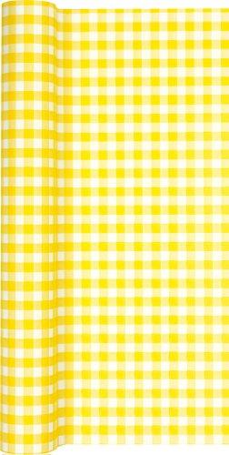 er Rolle kariert in gelb - weiß/Airlaid/Tischband für Party/Geburtstag 40cm x 4,90m ()