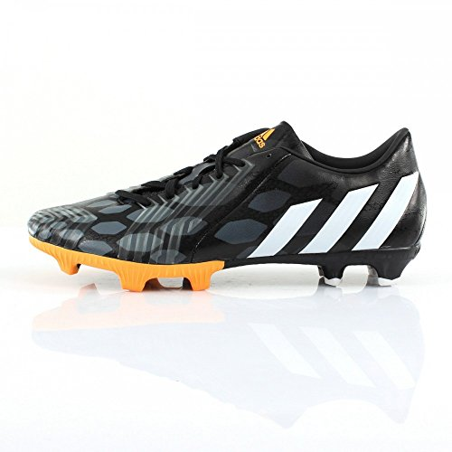 Predator Absolion Instinct LZ FG - Chaussures de Foot Noir/Blanc/Or Noir
