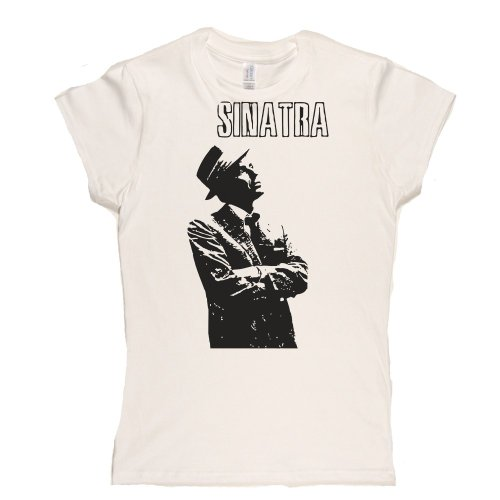 Sinatra Womens Fitted T-Shirt Weiß