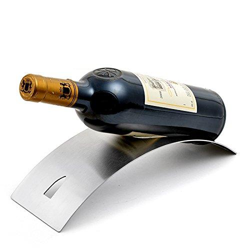 FUCHEN Casier À Vin En Acier Inoxydable Porte-Bouteille De Vin De La Personnalité Une Décoration Minimaliste Moderne Plateau Wine Wine Bar L'Appui,Arch Bridge