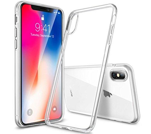 ESR Hülle für iPhone XS, iPhone X [Kabelloses Aufladen Unterstützung],Transparent Durchsichtig [Ultra Dünn] Klar Weiche TPU Schutzhülle für iPhone X/iPhoneXS 5.8 Zoll (Klar)