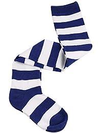 Rcool Medias Calcetines hasta la rodilla Medias autoadhesivas Medias de liga, Rayas calcetines largos en