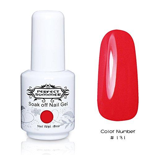 Perfect Summer 1pcs 8ml Vernis à Ongles Semi-Permanent Soak Off UV LED Série de Couleur Fluorescent #131