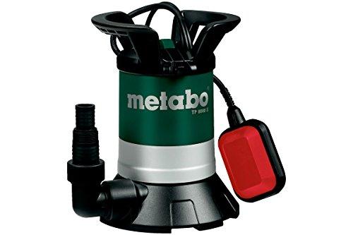 Metabo Klarwasser Tauchpumpe TP 8000 S | inkl. Winkelanschlussstück mit Multiadapter, Schwimmerschalter | 250800000