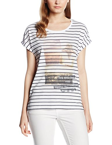 s.Oliver Damen T-Shirt Weiß (white placed print 01D0)