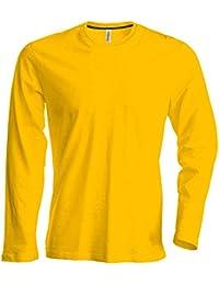 00bc3d9e43e5 Herren T-Shirt Langarm Rundhals Shirt, Leicht Körperbetont, in 20 Farben  und Den