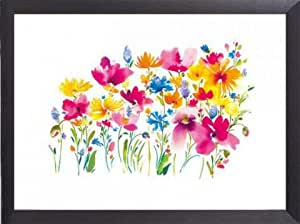 Flowers Poster Art Print and Frame (Aluminium) - Wild Meadow, Summer Thornton (32 x 24 inches)