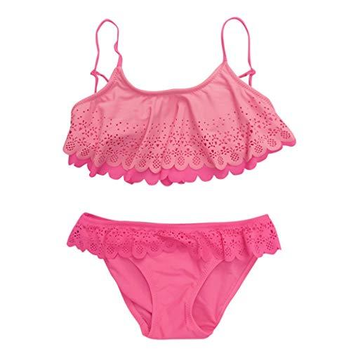 sunnymi 7-14 Jahre Kinder Mädchen Bademode Rüschen Sommer Badeanzug Bikini Outfits