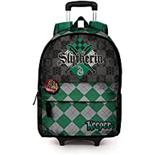 Karactermania Harry Potter Quidditch Slytherin-Mochila HS con Carro Mochila Tipo Casual, 51 cm