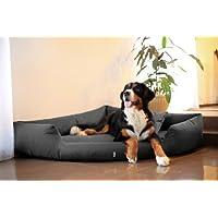 [Gesponsert]tierlando® Orthopädisches Hundebett TRIVIA Visco Eckbett Eckhundebett Festes Polyester. Ein wahres Platzsparwunder. Gr. M 80cm Graphit Grau