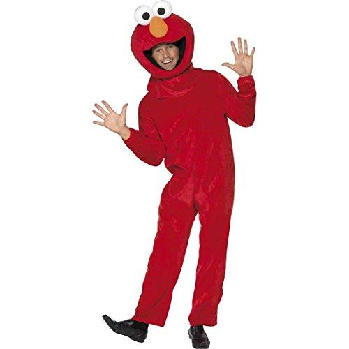 Für Elmo Erwachsene Kostüm - Kostüm Elmo Sesamstraße M/L - Elmokostüm Sesamstraßekostüm