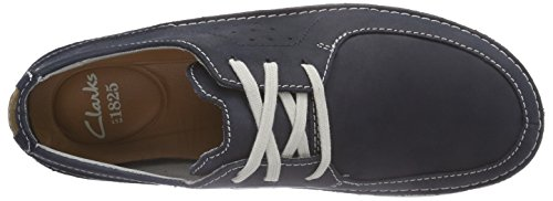 Clarks Trikeyon Fly, Derby homme Bleu (Navy Leather)