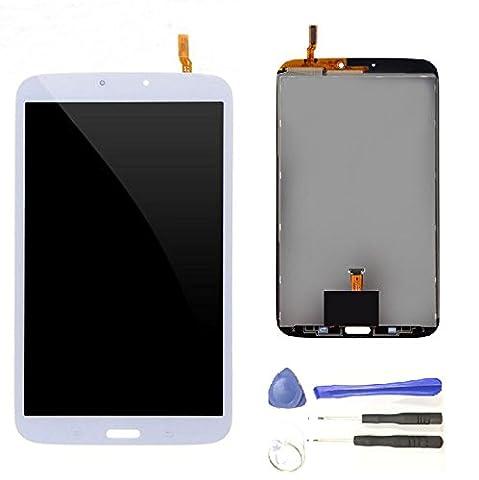 Digitizer Ecran LCD complet + Vitre tactile remplacement pour Samsung Galaxy Tab 3 8.0 T310 T311 Blanc