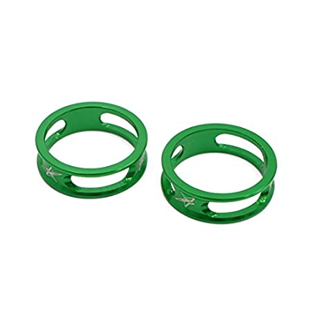 sourcing map 2uds 28 6mmX10mm Verde Espaciador Casquillo de la Horquilla para Bicicleta Mountain Bike