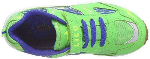 Lico BOB VS, Chaussures spécial sports en salle pour garçon Grün (gruen/blau/lemon)