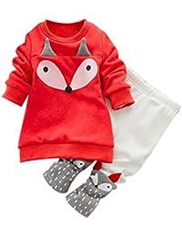 Koly Bebé Niño Pequeño Unisex Raya de empalme floral de la manera Sudadera ropa deportiva Tops camisa bebe+Conjuntos de pantalones Conjunto de ropa ropita de bebe conjuntos de niña