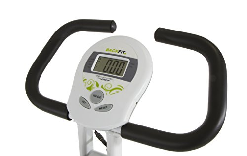 Tecnovita-by-BH-BACK-FIT-YF91-Flywheel-equivalent-to-18-lbs-Get-in-shape-in-the-comfort-of-your-own-home-Foldable-fitness-bicycle-Backrest-and-easy-access-LCD-Monitor-Folds-easily-White