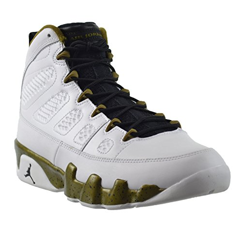 Nike Air Jordan 9 Retro, Chaussures de Sport Homme, Multicolore white/black-miltia green
