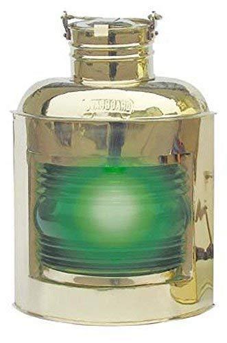 linoows Steuerbord Lampe, Positions-Leuchte Elektrisch, Rechte Schiffslaterne Grün 30 cm -