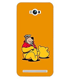 PRINTSWAG BEAR WITH DRINK Designer Back Cover Case for ASUS ZENFONE MAX