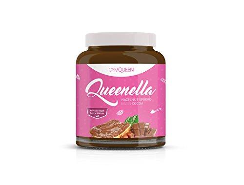 Leckere Proteine-Creme, Schokocreme Ersatz ohne Zucker für ein gesundes Frühstück | Himmlisch duftende Haselnusscreme, Nougat Creme Alternative mit Stevia | Low-Carb Gymqueen Queenella - Schoko (250g)