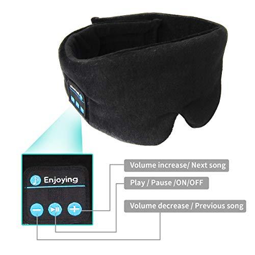 omufipw Bluetooth Schlafaugenmaske Drahtloser Kopfhörer Freisprecheinrichtung Musik Headset Augenmaske für die Mittagspause