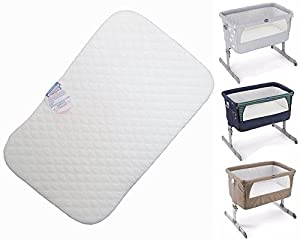 Next to me Deluxe Crib Mattress Compatible Co-Sleeper Bedside Crib Next2Me (83 x 50 x 5 cm)
