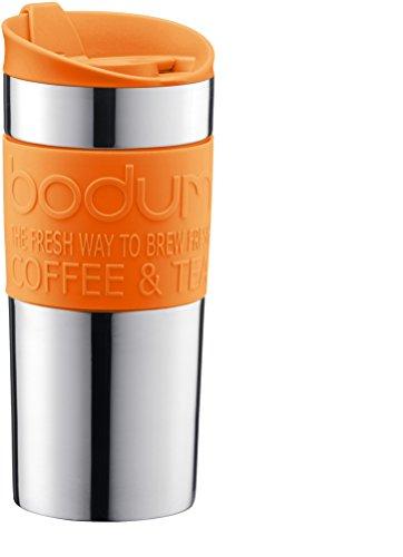 Bodum 11068-948B-Y17 - Travel Mug - Mug de Voyage Isotherme - Double Paroi Inox - 0.35 L - Orange