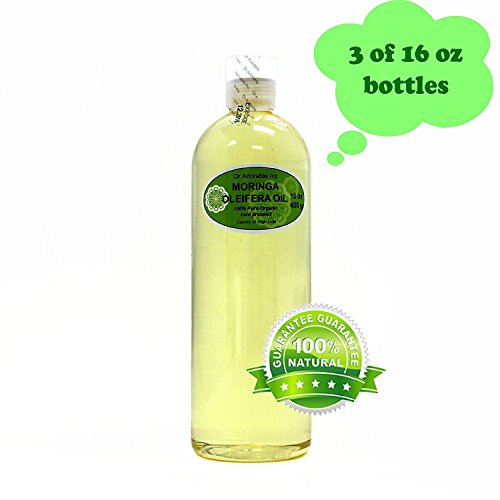 MORINGA OLEIFERA OIL BY DR.ADORABLE 100% PURE ORGANIC COLD PRESSED 48oz/3 PINT