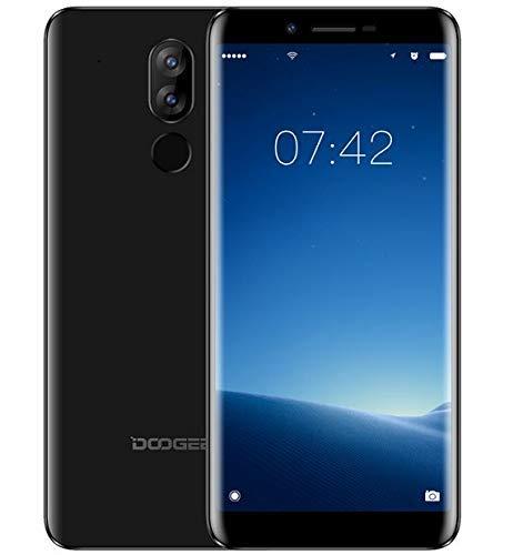 DOOGEE X60 Telephone Portable debloqué, Écran 5,5 '' HD (Ratio de 18:9) Android Go 3G Smartphone, MTK6580 Quad Core 1 Go + 8 Go, Triple caméra (5 MP + 8 MP + 2 MP), Batterie 3300 mAh - Noir