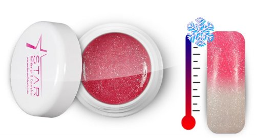 Star Naildesign & Cosmetics UV Gel Topline Thermique Couleur Pink-Pearl White 5 ml