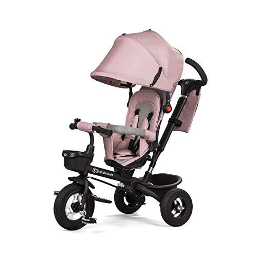 Kinderkraft Aveo - Triciclo con ruedas de goma para niños de 9 meses a 5 años, Rosa