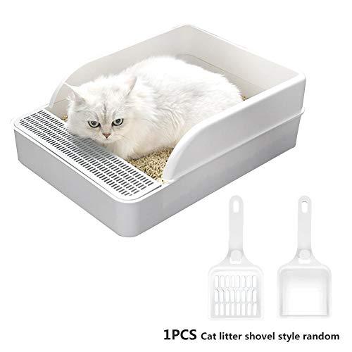 Katzentoilette Spritzwassergeschützt Halbgeschlossene Katzen Kleine Hunde Deodorant Cat Toilettentopf mit Schaufel