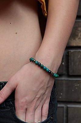 Bijoux pour femmes Bracelet chrysocolle multicolore élastique BRO806