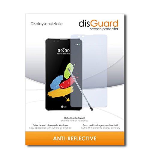 disGuard® Bildschirmschutzfolie [Anti-Reflex] kompatibel mit LG Stylus 2 DAB+ [2 Stück] Entspiegelnd, Matt, Antireflektierend, Extrem Kratzfest, Anti-Fingerabdruck - Panzerglas Folie, Schutzfolie