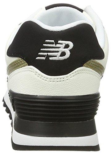 New Balance Damen 574 Sneaker Weiß (White/WL574SFG)