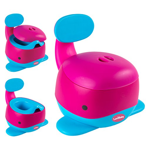 Image of Whale Potty Chair - Fun Toilet Training Seat for Baby Boys and Girls - Stable and Comfortable for your Toddler (Pink)