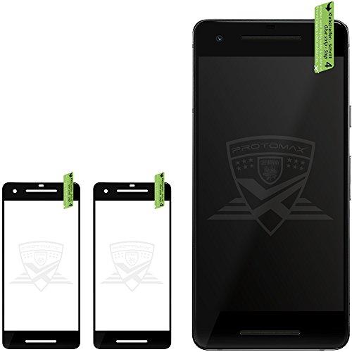 2 x PROTOMAX 3D Schutzglas für GOOGLE PIXEL 2 XL SCHWARZ, Vollumrandung Schutzfolie Displayschutz 0,2 mm, BLACK (2er Pack)