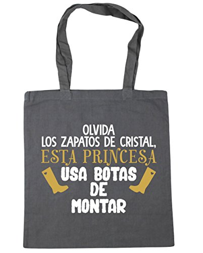 HippoWarehouse Forget Crystal Shoes This Princess Uses Riding Boots Beach Bag Shopping Bag With Handles for gym 42cm x 38cm 10 liters capacity