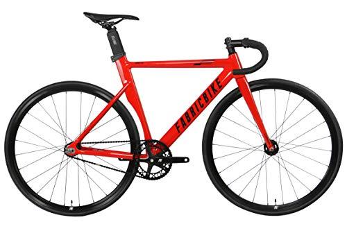FabricBike AERO - Fixed Gear Fahrrad, Single Speed Fixie Starre Nabe, Aluminium Rahmen und Carbon-Gabel, Räder 28