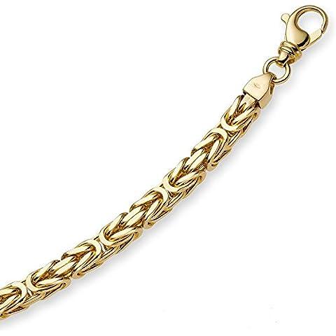 750/18 Oro Giallo - 3,50 mm RE catena braccialetto bracciale da 21 cm