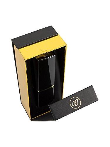 Womanizer-SparBox: Womanizer 2GO Schwarz/Schwarz/Gold + 2in1 professional Cleaner + 3 zusätzliche Ersatzköpfe aus medizinischem Silikon in der limitierten Geschenkbox - 6