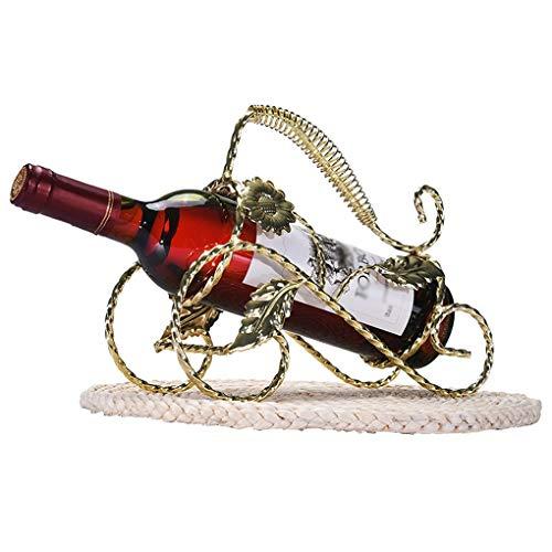 JPJIUJIA Europäischer kreativer Wein-Regal-Rotwein-Zahnstangen-Dekoration-Retro- Eisen-Wein-Ausstellungsstand-Wein-Zahnstange Persönlichkeit kreativ (Farbe : #1)