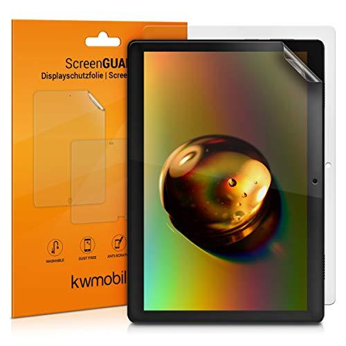 kwmobile 2X Lenovo Tab M10 Folie - Full Screen Tablet Schutzfolie für Lenovo Tab M10 entspiegelt