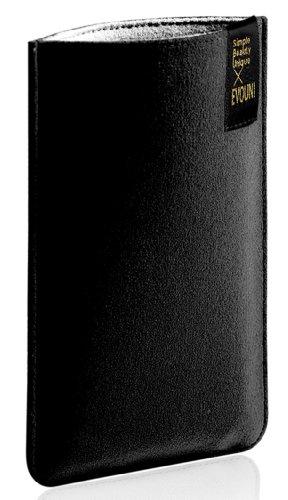 EVOUNI Nano-Faser Tasche für große Smartphones und PDA - schwarz Pda-tasche Pouch Case