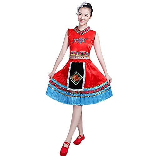 Xiao Jian- Tanzkostüm - Performance Kostüme Kostüme Kostüme Kostüme Square Dance Kleid - Rot Tanzuniform (Farbe : Red, größe : - Square Dance Kleid Kostüm