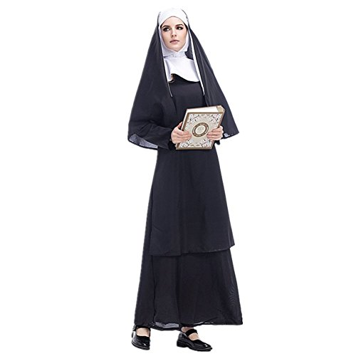 Imagen de adulto disfraz de monja para mujer cosplay monja stage show carnaval halloween alternativa