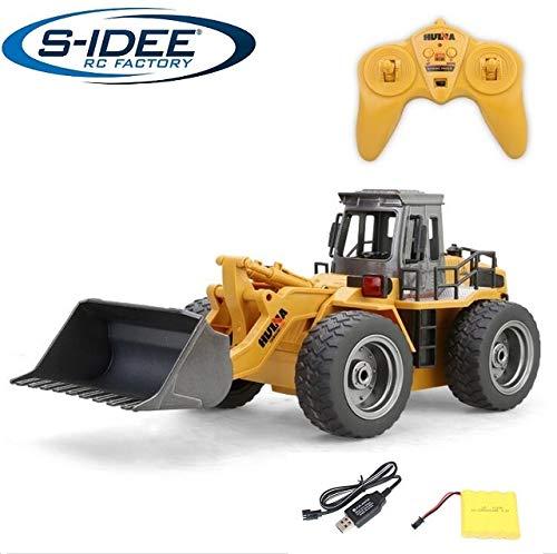 RC Auto kaufen Baufahrzeug Bild: s-idee® 18146 S1520 Rc Radlader Bagger 1:18 mit 2,4 GHz schwenkbare Schaufel Huina 1520*