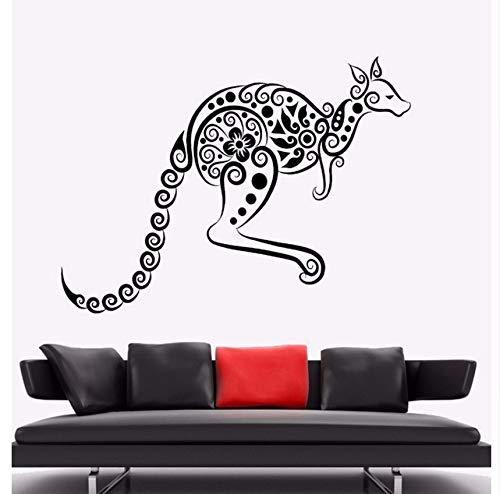 Lvabc Wandaufkleber Känguru Tier Vinyl Wandtattoo Australien Ornament Wandkunst Wandhaupt Wohnzimmer Dekor Känguru Vinyl Kunst 42X31 ()